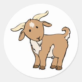 Cute Cartoon Goat Classic Round Sticker