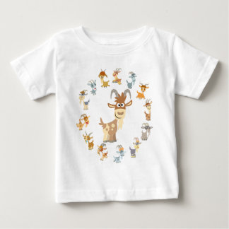 Cute Cartoon Goat Mandala Baby T-Shirt