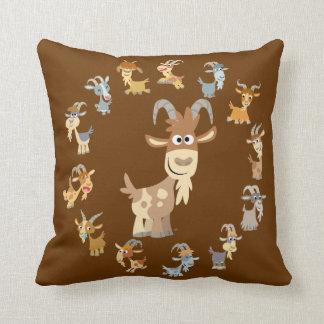 Cute Cartoon Goat Mandala Pillow