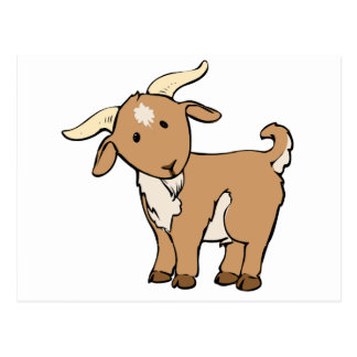 Cute Cartoon Goat Postcard