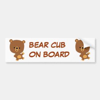 Cute Cartoon 'Good Vibe' Bear Bumper Sticker