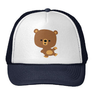 Cute Cartoon 'Good Vibe' Bear Hat