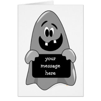 Cute Cartoon Goofy Ghost Halloween Design Custom Card