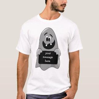 Cute Cartoon Goofy Ghost Halloween Design Custom T-Shirt