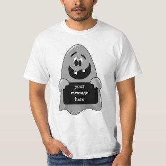 Cute Cartoon Goofy Ghost Halloween Design Template T-Shirt