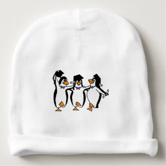 Cute Cartoon Graduating Penguins Baby Beanie