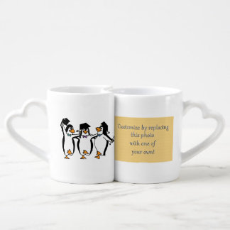 Cute Cartoon Graduating Penguins Coffee Mug Set