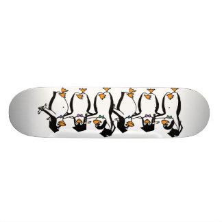 Cute Cartoon Graduating Penguins Skate Board Decks