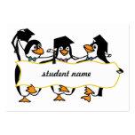 Cute Cartoon Graduating Penguins w/Banner Business Cards