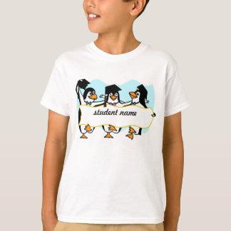 Cute Cartoon Graduating Penguins w/Banner T-Shirt
