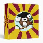 Cute Cartoon Graduation Owl With Cap & Diploma Binder