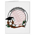 Cute Cartoon Graduation Owl With Cap & Diploma Big Greeting Card