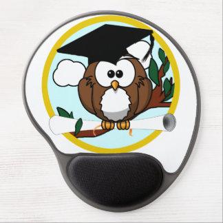Cute Cartoon Graduation Owl With Cap & Diploma Gel Mouse Pad