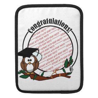 Cute Cartoon Graduation Owl With Cap & Diploma Sleeves For iPads