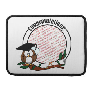 Cute Cartoon Graduation Owl With Cap & Diploma Sleeve For MacBook Pro