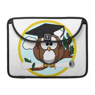 Cute Cartoon Graduation Owl With Cap & Diploma Sleeve For MacBooks