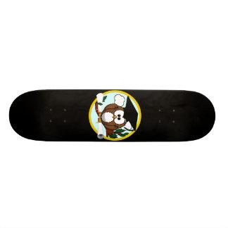 Cute Cartoon Graduation Owl With Cap & Diploma Custom Skateboard