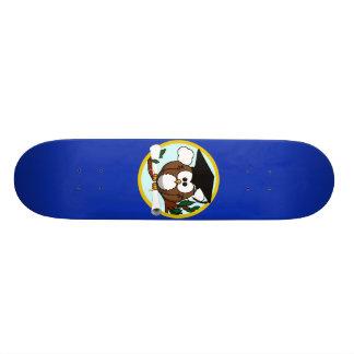 Cute Cartoon Graduation Owl With Cap & Diploma Custom Skate Board