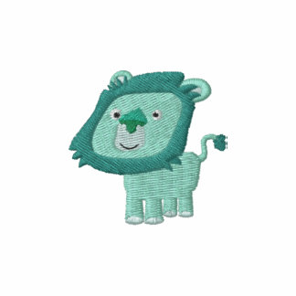 Cute Cartoon Green Lion embroidery