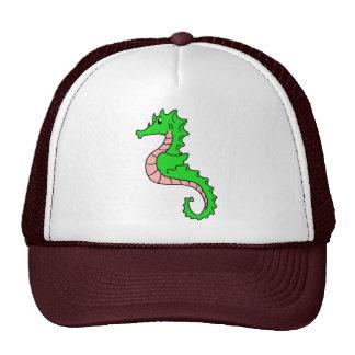 Cute Cartoon Green Seahorse Trucker Hats