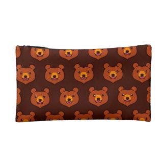 Cute Cartoon Grizzly / Brown Bear Pattern Makeup Bag