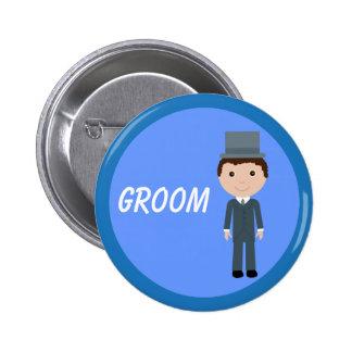 Cute Cartoon Groom Button