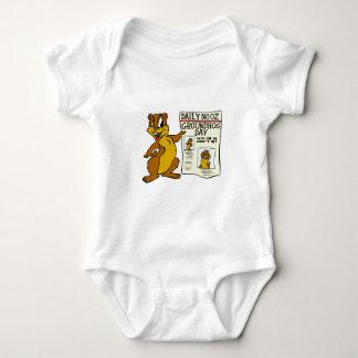 Cute Cartoon Groundhog w/ Groundhog Day Newpaper Shirt