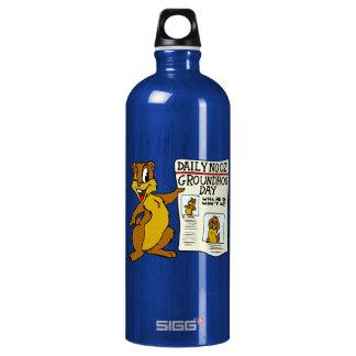 Cute Cartoon Groundhog w/ Groundhog Day Newpaper SIGG Traveler 1.0L Water Bottle
