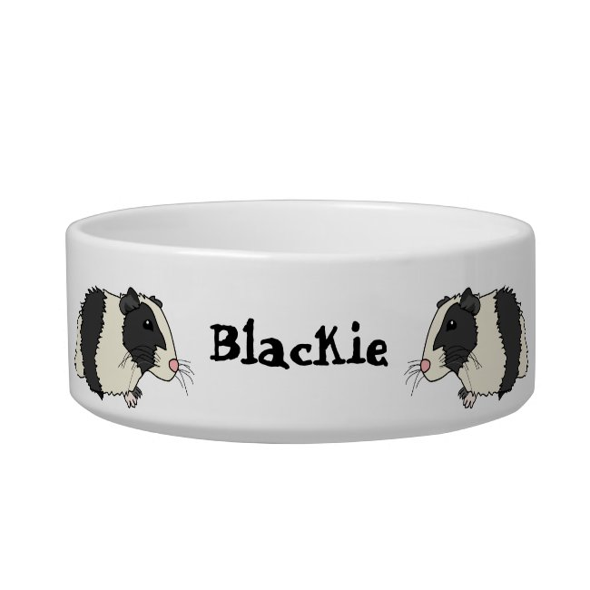Cute Cartoon Guinea Pigs Personalized Pet Bowl