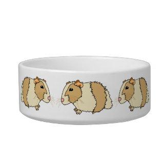 Cute Cartoon Guinea Pigs Pet Bowl