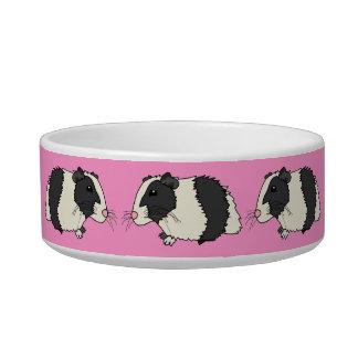 Cute Cartoon Guinea Pigs Pink Pet Bowl