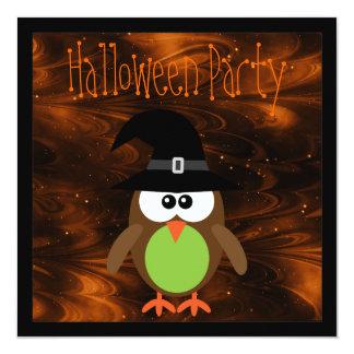 Cute Cartoon Halloween Owl Magical Night Card
