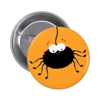 Cute Cartoon Halloween Spider Button / Pin Badge