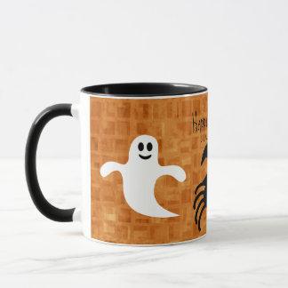 Cute Cartoon Halloween Spider & Ghosts Mug