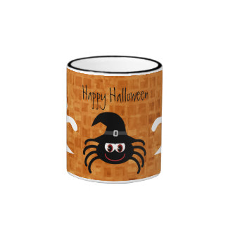 Cute Cartoon Halloween Spider & Ghosts Mugs