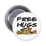 Cute Cartoon Hamster Free Hugs Pin