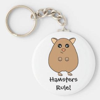 Cute Cartoon Hamster Keychain