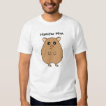 Cute Cartoon Hamster Mom Ladies T-Shirt
