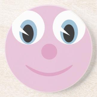 Cute Cartoon Happy Face Drink Coasters