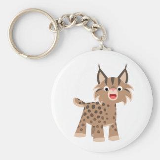 Cute Cartoon Happy Lynx Keychain