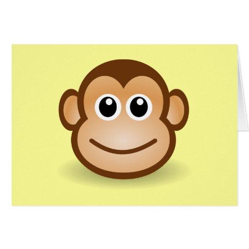 Happy Cartoon Gorilla Face Cute Cartoon Ha...