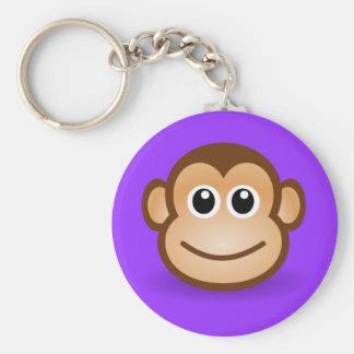 Cute Cartoon Happy Monkey Face Keychain