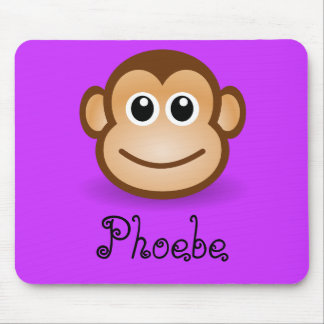 Cute Cartoon Happy Monkey Face Personalized Gift Mouse Pad