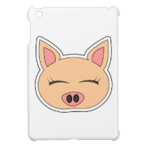 Cute Cartoon Happy Pig Cover For The iPad Mini
