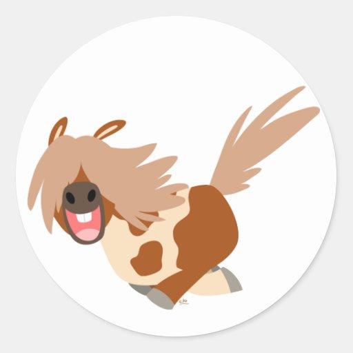 Cute Cartoon Happy Pinto Pony sticker
