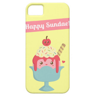 Cute Cartoon - Happy Sundae! And Yummy toppings iPhone 5 Case