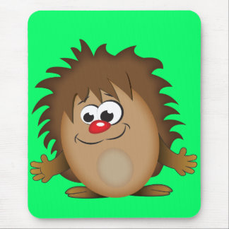 Cute Cartoon Hedgehog Mouse Pad