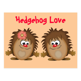 Cute Cartoon Hedgehog Postcard