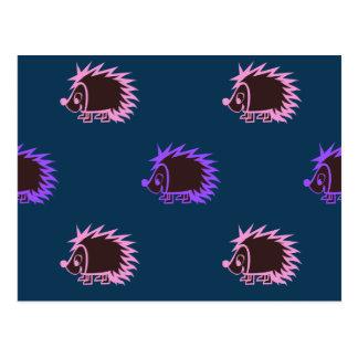 Cute Cartoon Hedgehogs Postcard