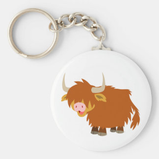Cute Cartoon Highland Cow Keychain